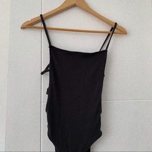 Urban Outfitters Black Backless Bodysuit